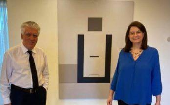Αγία Παρασκευή: O Δήμαρχος Βασίλης Ζορμπάς συναντήθηκε με την υπουργό Παιδείας