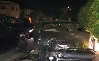 Φιλοθέη Ψυχικό : Μεσονύχτια σύγκρουση δυο επιβατικών αυτοκίνητων με οδηγούς νεαρά παιδιά