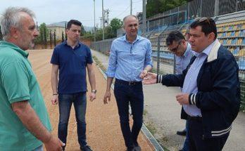 Οι Δήμαρχοι Στράτος Σαραγούδας και Τάσος Μαυρίδης επισκεφτήκαν το Διαδημοτικό Στάδιο Μεταμόρφωσης - Λυκόβρυσης Πεύκης