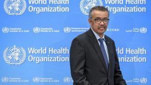 ΠΟΥ στη Γενεύη ο γενικός διευθυντής του οργανισμού, Τέντρος Αντανόμ Γκεμπρεγέσους