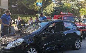 Βριλήσσια : Σύγκρουση δύο Ι.Χ αυτοκινήτων στην οδό Θερμοπυλών και Μπακογιάννη μόνο υλικές ζημίες