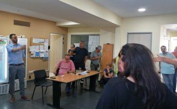 Βριλήσσια: Ο επικεφαλής του Συνδυασμού Νέα Πνοή για τα Βριλήσσια συζήτησε στα γραφεία της Διεύθυνσης με τους εργαζομένους στην καθαριότητα