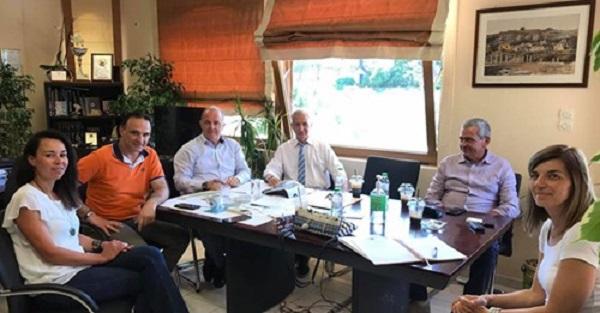 Διόνυσος: Επίσκεψη του Αντιπεριφερειάρχη Ανατολικής Αττικής Θ. Αυγερινού στο Δήμο και συνάντησή του με το Δήμαρχο