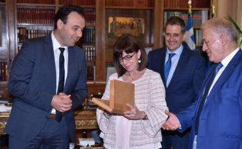 ΚΕΔΕ : Συνάντηση του Προέδρου της ΚΕΔΕ Δ. Παπαστεργίου και του Προεδρείου της Ένωσης, με την Πρόεδρο της Ελληνικής Δημοκρατίας.