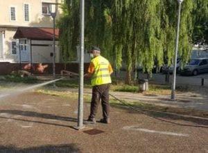 Μεταμόρφωση: Απολυμάνσεις σε ευαίσθητα σημεία της πόλης – Σήμερα σειρά είχε το πάρκο πίσω από το ΚΗΦΗ.