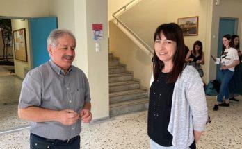 Πεντέλη: Το πρωί Λύκειο Μελισσίων επισπεύτηκε σήμερα πρωί πρώτη ημέρα των Πανελλαδικών εξετάσεων η Δήμαρχος Πεντέλης