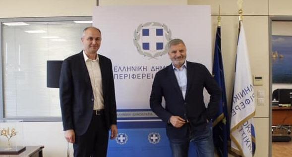 Περιφέρεια Αττικής: Συνάντηση με τον Δήμαρχο Μεταμόρφωσης Στράτο Σαραούδα.