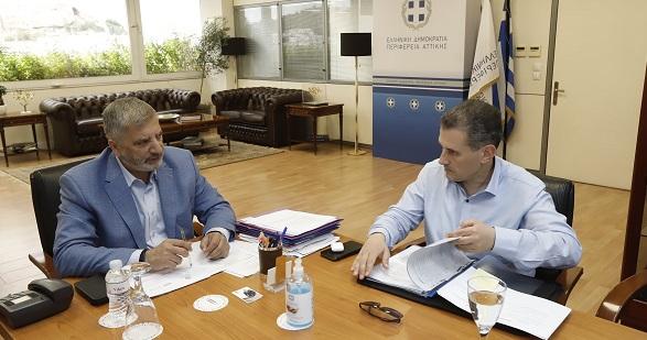 Περιφέρεια Αττικής : Συνάντηση του Γ. Πατούλη με τον Δήμαρχο Καλλιθέας Δ. Κάρναβο