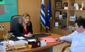 Λυκόβρυση Πεύκη : Με την Γενική Γραμματέα Α' Βαθμιας και Β' Βαθμιας εκπαίδευσης στο Υπουργείο Παιδείας συναντήθηκε ο Δήμαρχος