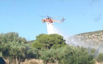 ΣΠΑΥ Υμηττός: Πυρκαγιά σημειώθηκε χθες λίγο νωρίτερα από τις 18:00 στη θέση Κόρμπι Βάρης και στη θέση Λουμπάρδα Κρωπίας.