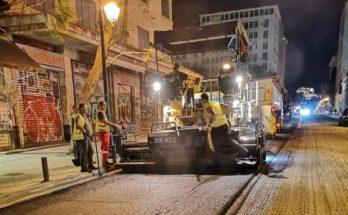 Αθήνα : Συνεχίζονται οι Ασφαλτοστρώσεις στην πρωτεύουσα