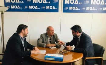 Διόνυσος: Με τον Πρόεδρο της ΜΟΔ Γ.Παπαδημητρίου συναντήθηκε ο Δήμαρχος Διονύσου Γ.Καλαφατέλης, παρουσία του Βουλευτή Β.Οικονόμου