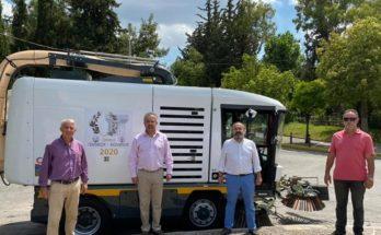 Παπάγου Χολαργός: Με νέο σάρωθρο - σκούπα ενισχύθηκε ο στόλος της Διεύθυνσης Καθαριότητας