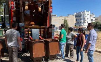 Πεντέλη: Πρώτη ημέρα λειτουργιάς του καφέ απορριμματοφόρου στην πόλη