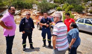 ΣΠΑΥ : Αυτοψία στον Υμηττού στα σημεία που πραγματοποιήθηκαν εργασίες του Συνδέσμου για την συντήρηση των δασικών δρόμων και την κοπή ξερών χόρτων
