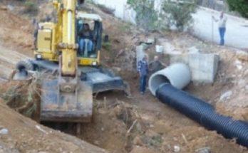 έργο κατασκευής αγωγών ομβρίων στο Πολύδροσο