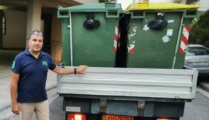 Ζωγράφου : Αντικατάσταση κατεστραμμένων κάδων απορριμμάτων