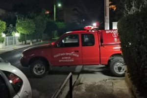 Βριλήσσια: Χθες το βράδυ η πολιτική προστασία απομάκρυνε κλάρα από ένα τεράστιο πεύκο