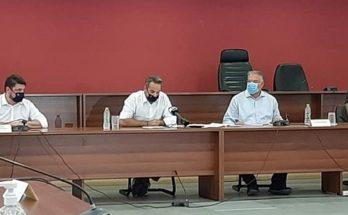 Ο Πρόεδρος της Επιτροπής Πολιτικής Προστασίας της Κ.Ε.Δ.Ε συμμετείχε στην σύσκεψη υπό την προεδρία του πρωθυπουργού Κ. Μητσοτάκη για τις για τις καταστροφικές πλημμύρες της Εύβοιας