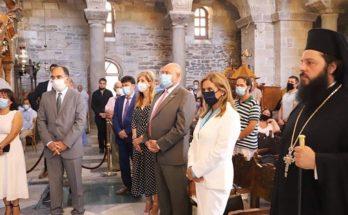 Η Υφυπουργός Υγείας Ζωή Ράπτη εκπροσώπησε την Κυβέρνηση στην Πάρο, στις εορταστικές εκδηλώσεις της Εκατονταπυλιανής Παναγιάς