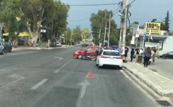 Σπάτα Αρτέμιδα: Τροχαίο ατύχημα στη λεωφόρο Καραμανλή