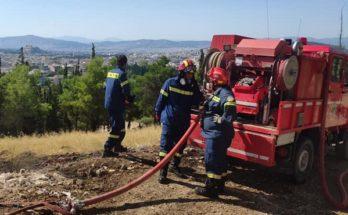 ΣΠΑΥ: Χθες πυρκαγιά στον Υμηττό στην περιοχή του Βύρωνα στον λόφο Αράπη