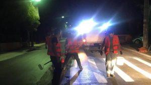 Διόνυσος: Εργασίες διαγράμμισης διαβάσεων πεζών από το Δήμο