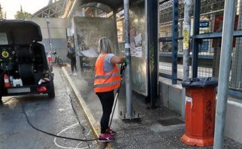 Ηράκλειο: Απολύμανση από τον Δήμο των δημοτικών λεωφορείων και τις στάσεις σε όλη την πόλη