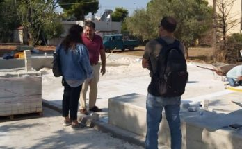 Κηφισιά: Ξεκίνησε και συνεχίζεται η διαμόρφωση της πλατείας στην περιοχή Μορτερό της Δημοτικής Ενότητας Νέας Ερυθραίας