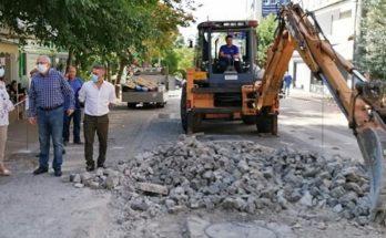 Μαρούσι : Αυτοψία Δήμαρχου στο έργο ανακατασκευής οδοστρώματος επί της οδού Δ. Ράλλη