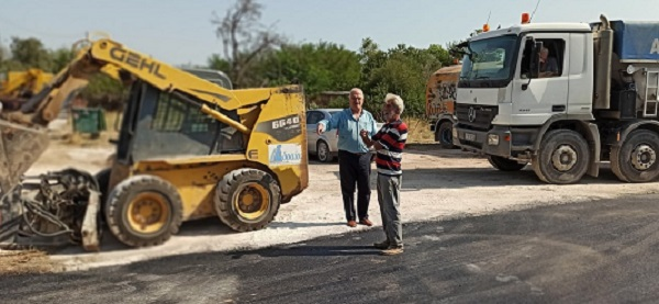 Παλλήνη: Ολοκληρώθηκαν τα έργα οδοστρωσίας στην Κάτω Μπαλάνα.