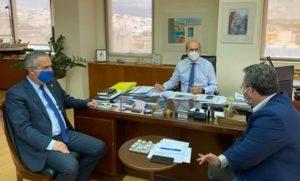 Χολαργού Παπάγου: Ο Δήμαρχος είχε συνάντηση με τον Υπουργό Περιβάλλοντος και Ενέργειας Κωστή Χατζηδάκη