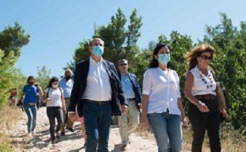 Πεντέλη: Επίσκεψη του υπουργού Περιβάλλοντος και Ενέργειας Κωστή Χατζηδάκη στο Πεντελικό όρος