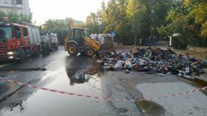 Χαλάνδρι: Φωτιά σε απορριμματοφόρο του Δήμου από ανάφλεξη υλικών σε κάδο ανακύκλωσης