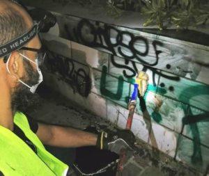 Αθήνα: Δράση αντιγκράφιτι στον Δήμο της Αθήνας