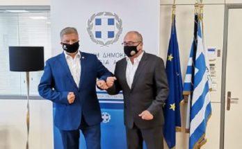 Ηράκλειο: Συνάντηση του Περιφερειάρχη Αττικής με τον Δήμαρχο