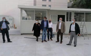 Μαρούσι: Αυτοψία του Δημάρχου στα έργα εγκατάστασης σχολικών αιθουσών και διαμόρφωσης σχετικών χώρων για την δίχρονης προσχολικής αγωγής
