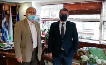 Μαρουσι: Συνάντηση του Δημάρχου Αμαρουσίου Θ. Αμπατζόγλου με τον Βουλευτή ΝΔ Βορείου Τομέα Β' Αθηνών Δ. Καιρίδη