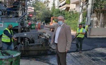 Μαρούσι: Αυτοψία του Δήμαρχου στα έργα ασφαλτοστρώσεων στις οδούς Μαραθωνοδρόμου και Άνθιμου Γαζή και επισκευής πεζοδρόμου στην Ιερέως Δούση