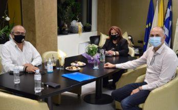 Νέα Ιωνία: Συνάντηση συνεργασίας της Δημάρχου Νέας Ιωνίας με τους Δημάρχους Ηρακλείου και Μεταμόρφωσης