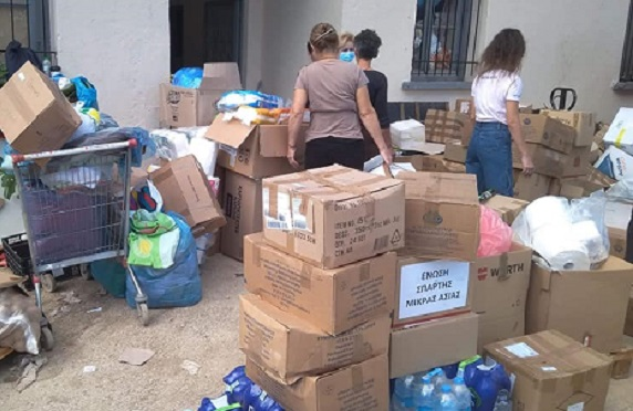 Νέα Ιωνία: Στους πληγέντες της Καρδίτσας τρόφιμα και ειδών πρώτης ανάγκης