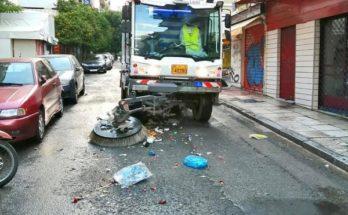 Αθήνα: Κυριακή καθαριότητας στην Ομόνοια και τους δρόμους γύρω της