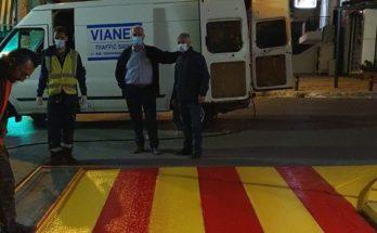 Παλλήνη: Έργα διαγραμμίσεων οδών για ασφαλείς μετακινήσεις στην πόλη