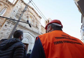 Σάμος : Ιερός ναός της Παναγιάς στο Καρλόβασι της Σάμου μετά από τις καταστροφές που υπέστη ο ναός