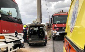 Σπάτα Αρτέμιδα: Τροχαίο ατύχημα στον περιφερειακό δρόμο που συνδέει τα Σπάτα με το Κορωπί
