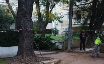 Κηφισιά Επισκευή οδοστρώματος από ωθήσεις γαιών (εξογκώματα από ρίζες δέντρων )