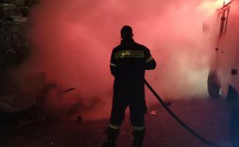 Βριλήσσια: Τα ξημερώματα στο Πάτημα φωτιά σε πλαστικούς κάδους απορριμμάτων
