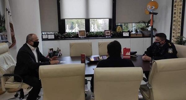 Ηράκλειο Αττικής : Συνάντηση του Δημάρχου με τον διοικητή του τοπικού Αστυνομικού τμήματος