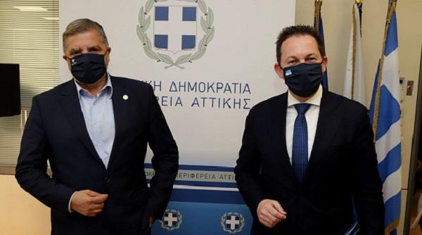 Περιφέρεια Αττικής: Συνάντηση εργασίας του Περιφερειάρχη Γ. Πατούλη με τον νέο Αν. Υπουργό Εσωτερικών αρμόδιο για θέματα Αυτοδιοίκησης Σ. Πέτσα