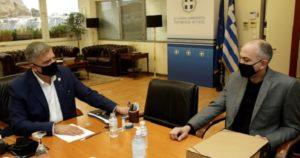 Περιφέρεια Αττική: Συνάντηση του Περιφερειάρχη Αττικής Γ. Πατούλη με τον Δήμαρχο Μεταμόρφωσης Σ. Σαραούδα